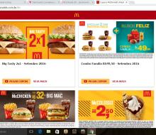 Promoção da McDonalds com Cupons de descontos