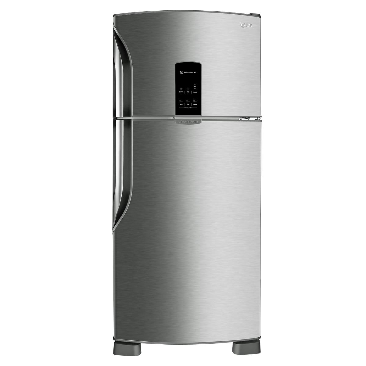 CLIQUE ➤➤ Geladeira LG Frost Free Top Freezer 2 Portas Fresh & Light GT44 435 Litros Inox 110V   oferta com preço barato em Promoção no site de loja