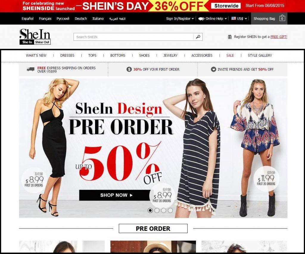 site Shein é confiável