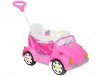 Carrinho de Passeio Infantil a Pedal 1300 Fouks – com Empurrador Emite Sons Calesita