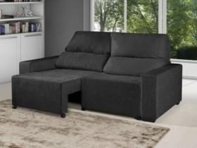 (VAI ACABAR RAPIDINHO) Sofá Retrátil Reclinável 3 Lugares Suede Elegance – American Comfort