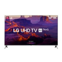 Smart TV LED 50″ LG 50UK6510PSF Ultra HD 4k Wi-Fi Inteligência Artificial Prata Conversor Digital Integrado