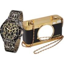 Relógio Feminino Mondaine Analógico Fashion 94740lpmvde1k1 + Bolsa