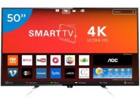 Smart TV LED 50″ AOC 4K/Ultra HD LE50U7970 – Conversor Digital Wi-Fi 4 HDMI 3 USB 50″ – Bivolt