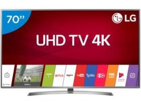 Smart TV LED 70″ LG 4K/Ultra HD 70UJ6585 WebOS – Conversor Digital Wi-Fi 4 HDMI 2 USB Bluetooth HDR Bivolt