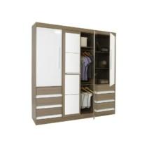 Guarda-roupa Casal 4 Portas 6 Gavetas – Araplac Sofia com Espelho Mel