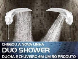 Ducha / Chuveiro Lorenzetti 2 em 1 ▪ Quadrada Duo Shower – 4 Temperaturas ▪