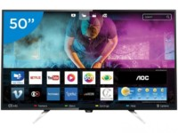"Smart TV LED 50"" AOC 4K/Ultra HD LE50U7970 – Conversor Digital Wi-Fi 4 HDMI 3 USB – R$ 2089"