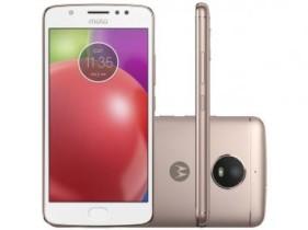 Smartphone Motorola Moto E4 16GB Ouro Rosê – Dual Chip 4G Câm. 8MP + Selfie 5MP Tela 5″ HD