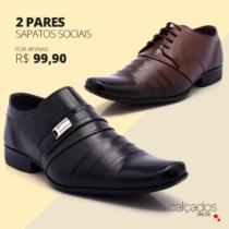Dois pares de Sapato Social apenas R$99,90Podem ser modelos e tamanhos diferentes!