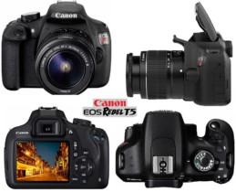 Câmera Digital DSLR Canon EOS Rebel T5 18MP Lente EF-S18-55mm III – Preta