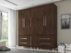 Guarda-roupa Casal 6 Portas 4 Gavetas – Araplac Viseu 6040-77