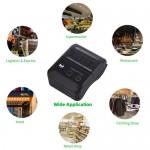Impressora térmica de recibos Aibecy portátil sem fio bt 58mm 2 mini USB compatível com Android / iOS / Windows