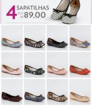 4 sapatilhas por R$89 São 43 Modelos a sua escolha
