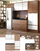 Cozinha com Rodapé Bege/Branco Acetinado Multimóveis