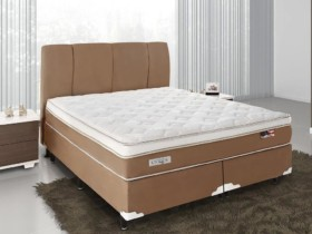 Cama Box Queen Size (Box + Colchão) Celuplás Mola – Vanille Softgel