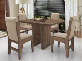 Conjunto de Mesa com 4 Cadeiras – Dobuê Movelaria Montreal