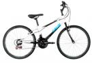 Bicicleta Caloi Aro 24 – 21 Marchas Max Juvenil Branca e Preta