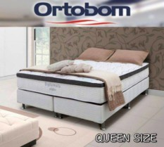 Cama Box Queen Size (Box + Colchão) Ortobom Mola – Pocket 52cm de Altura Light