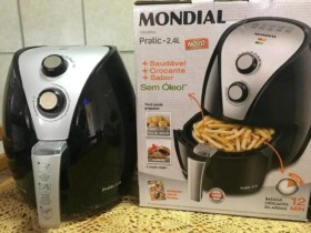 Fritadeira Elétrica Air Fryer/Sem Óleo Mondial – Pratic AF-20 2,4L Timer