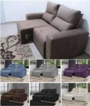 Sofá Retrátil Reclinável 3 Lugares Suede Elegance – American Comfort