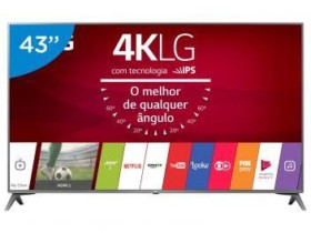 Smart TV LED 43″ LG 4K/Ultra HD 43UJ6565 WebOS – Conversor Digital Wi-Fi 4 HDMI 2 USB 43″ – Bivolt
