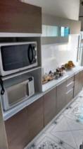 Cozinha Compacta Madesa Smart G200730909 – com Balcão 12 Portas 2 Gavetas 100 MDF