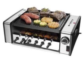 Churrasqueira Elétrica Cadence 1200W Inox – 6 Espetos Coletor de Gordura Automatic Grill