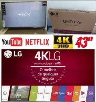 Smart TV LED 43″ LG 43UJ6525 Ultra HD 4K com Conversor Digital 4 HDMI 2 USB WebOS 3.5 Painel Ips HDR e Magic Mobile Connection