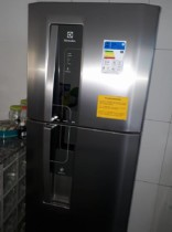 Geladeira/Refrigerador Electrolux Frost Free Inox – Duplex 380L Painel Touch DW42X11089 110 Volts