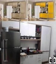 Cozinha Compacta Multimóveis Sicilia com Balcão – 9 Portas 3 Gavetas
