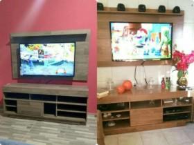 Rack para TV até 47″ com Painel 1 Porta de Correr – 3 Prateleiras – Artely Roma