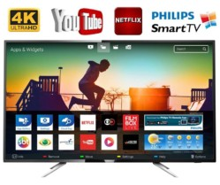 Smart TV LED 55″ Philips 55PUG6102/78 Ultra HD 4K 4 HDMI 2 USB Preta com Conversor Digital Integrado