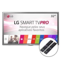 Smart TV LED 32 LG HD Conversor Digital 2 controles suporte parade