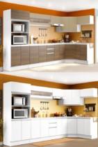 Cozinha Completa Madesa Smart Obliquo com Balcão – Nicho para Forno 17 Portas 3 Gavetas