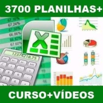 3700 Planilhas Excel 100% Editáveis – Apostilas + Vídeos!