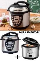 Kit Panela de Pressão Elétrica 4L + Panela Elétrica de Arroz 6 Xícaras 110v – Fun Kitchen