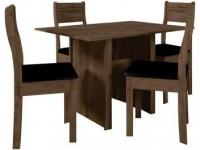 Mesa de Jantar 4 Cadeiras Retangular Indekes – Luiza Noce e Preto