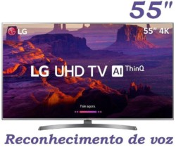 Smart TV LED LG 55″ 55UK6530 Ultra HD 4k com Conversor Digital 4 HDMI 2 USB Wi-Fi Dts Virtual X Sound Sync 60Hz Inteligencia Artificial – Prata