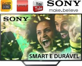 Smart TV LED 40″ Sony KDL-40W655D Full HD com Conversor Digital 2 HDMI 2 USB Wi-Fi Foto Sharing Plus Miracast Preta