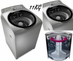Lavadora de Roupas Brastemp Ative BWG11 – Sistema Fast – 11kg – Inox – 110v