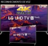 Smart TV LED 43″ LG 43UK6510 Ultra HD 4k com Conversor Digital 4 HDMI 2 USB Wi-Fi Thinq Ai Dts Virtual X 60Hz Inteligencia Artificial – Prata
