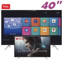 """Smart TV LED 40"""" TCL L40S4900FS Full HD com Conversor Digital 3 HDMI 2 USB Wi-Fi"""