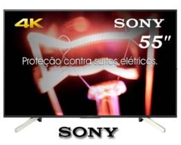 Smart TV Android LED 55″ Sony KD-55X755F Ultra HD 4k com Conversor Digital 4 HDMI 3 USB 60Hz – Preta