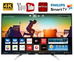 Smart TV LED 50″ Philips 50PUG6513/78 Ultra HD 4k com Conversor Digital 3 HDMI 2 USB Wi-Fi 60hz – Prata