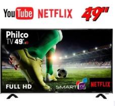 Smart TV LED 49″ Philco PTV49e68dSWN Full HD com Conversor Digital 3 HDMI 1 USB Wi-Fi 60Hz – Preta