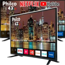 Smart TV LED 43″ Philco PTV43E60SN Full HD com Conversor Digital 3 HDMI 2 USB Wi-Fi MidiaCast