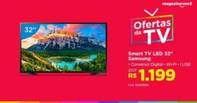 "Smart TV LED 32"" Samsung J4290 Tizen – Conversor Digital Wi-Fi 2 HDMI 1 USB DLNA"