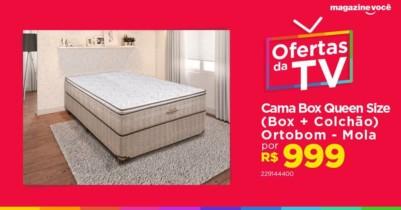 ATENÇÃOOO É SÓ HOJE!!!! Cama Box Queen Size (Box + Colchão) Ortobom – Mola 30cm de Altura Ortotech