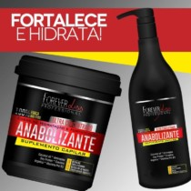 Kit Shampoo + Creme de Hidratação Forever Liss Professional Anabolizante Capilar